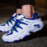 Mens Se Divierte Los Zapatos Corrientes de Aire Negro/Azul/Naranja Atléticos Zapatos de Cuero de Los Hombres Populares Zapatillas de deporte de Primavera/Otoño Bajo Zapatillas de Deporte superiores
