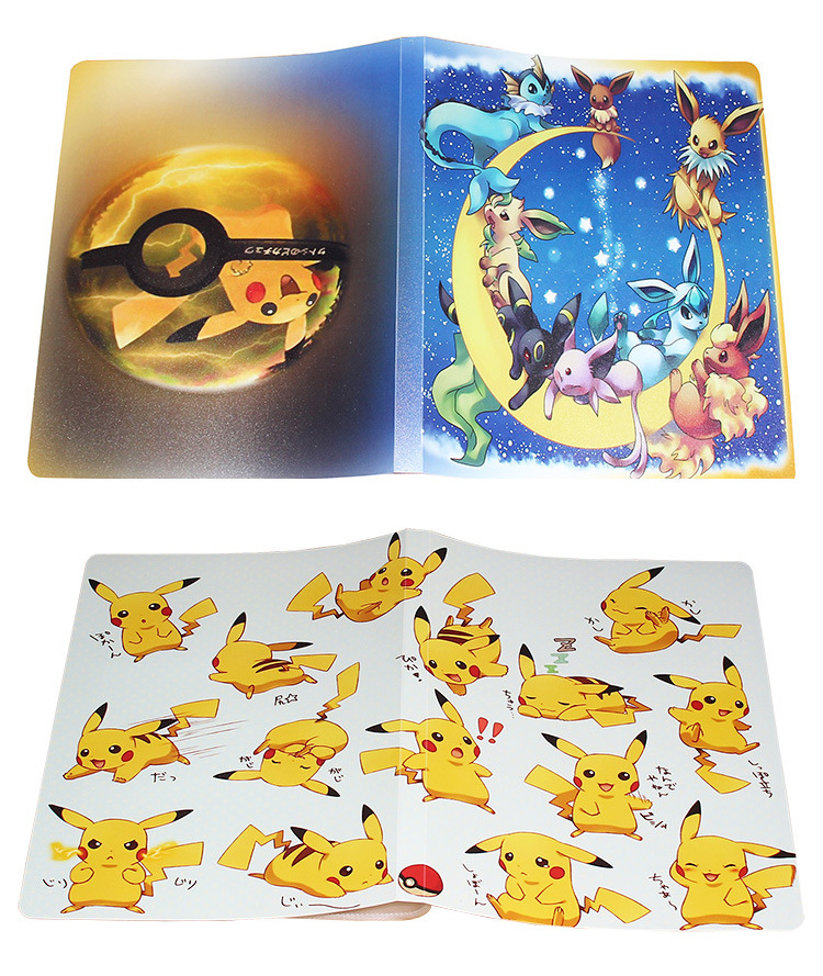 Large Capacity Cards Album Book For Pokemon Top Loaded List Playing Cards Holder Album Pokemon Toys For 324 Cards Novelty Gift