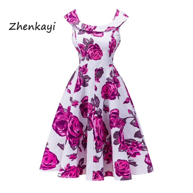 Aliexpress.com: Comprar Mujeres vestido vintage retro 1950 s 60 s ...