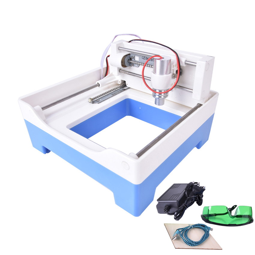 New 100mw DIY USB Mini laser engraver,Laser engraving machine, Automatic carving for Wood / Leather / Metal and so on blue laser head engraving module wood marking diode 2 5w glasses circuit board for engraver wood metal plastic carving mayitr