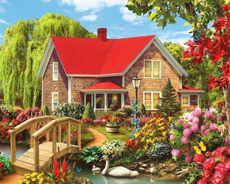 Compra jardín de la cabaña de fotos online al por ...