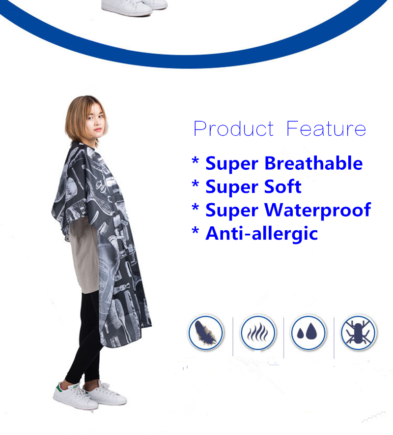 Factory kappers benodigdheden direct sales beauty alon haircutting apron DIY essential barber accessories/ Hairstylist Waterproo