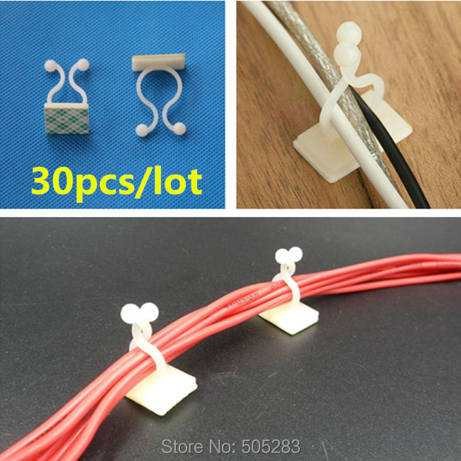 compare prices on computer wiring harness online shopping buy low 30pcs nylon cable fix seat tape cable organizer tie mount computer cable clips wire holder cable