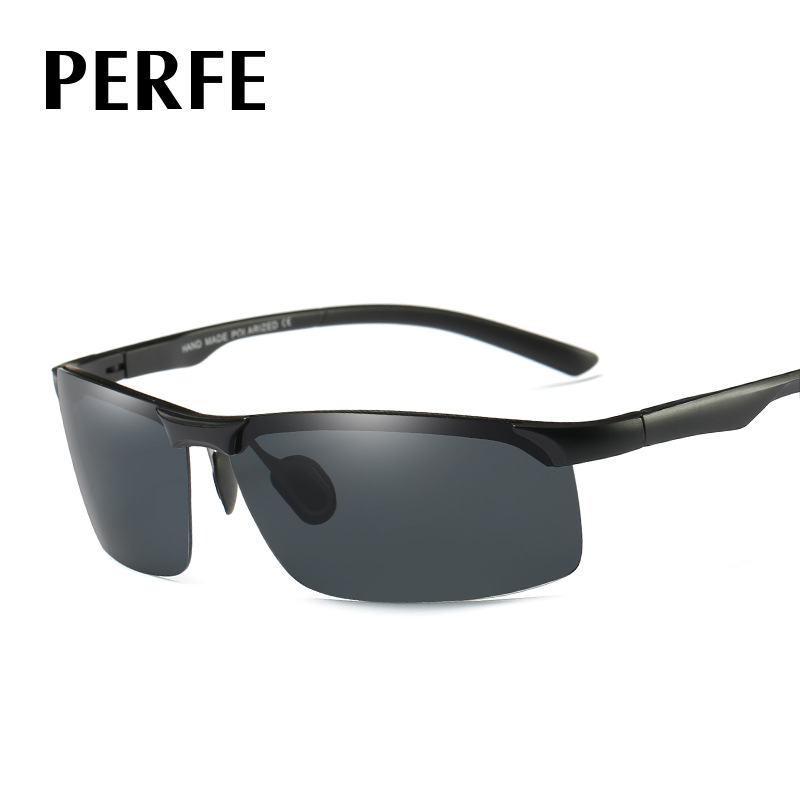 6e7b1c47961 PERFE Sport Sunglasses Polarized Men Brand Designer Biking Running Outdoor  Sport Polaroid Sun Glasses Black Frame Oculos De Sol-in Sunglasses from  Apparel ...