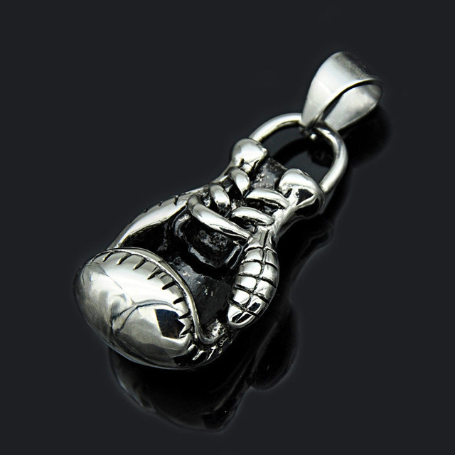 US $25 32 |Amazon explosion and the wind boxing headgear pendant pendant  jewelry manufacturers of stainless steel boxing gloves-in Pendant Necklaces