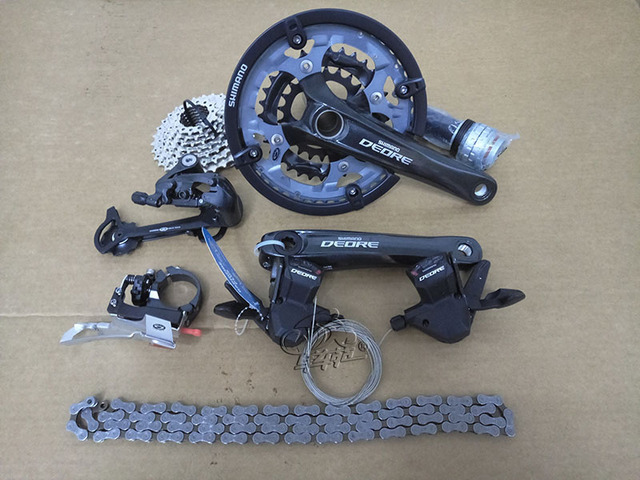 99070ccc77e SHIMANO DEORE M590 3X9S 27s Speed MTB Bicycle Derailleur Groupset Mountain  Bike Racing and Training Parts