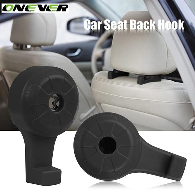 Onever 2 Pcs Car Seat Back Hook Bags Hanger Holder Organizer Automobiles Headrest Mount Storage Hooks