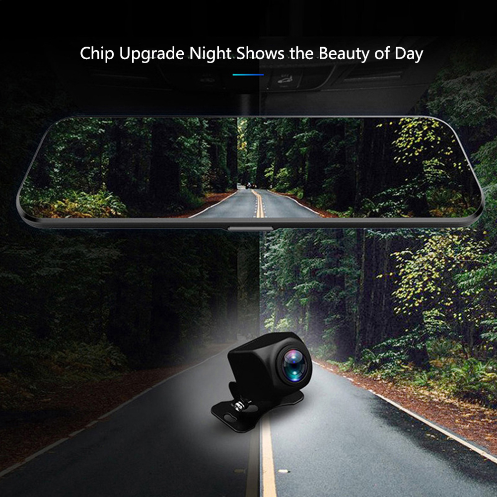 10inch HD Bluetooth Call Detector Camera Full Screen Wide Angle Sensitive Car DVR 170 Degree Plastic Night Vision Universal(China)