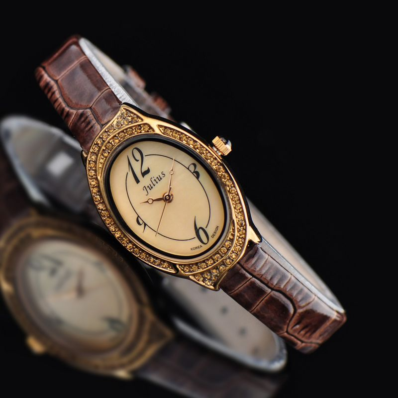 Retro Women s Watch Japan Quartz Hours Fine Fashion Dress Bracelet Leather Clock Luxury Shell Girl