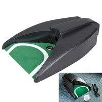 Nova chegada doméstico golf ball kick back retorno automático colocando dispositivo cup practice training aids