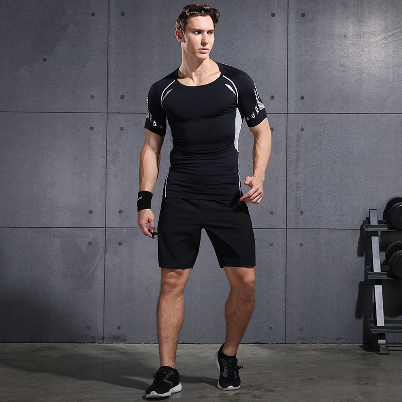 Sports Running Breathable Gym Fitness Basketball T shirt Shorts