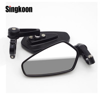 7/8 Universal Motorcycle Rear View Mirror Black Handle Bar End Side RearView Mirrors FOR road glide yamaha mt10 softail bmw gs