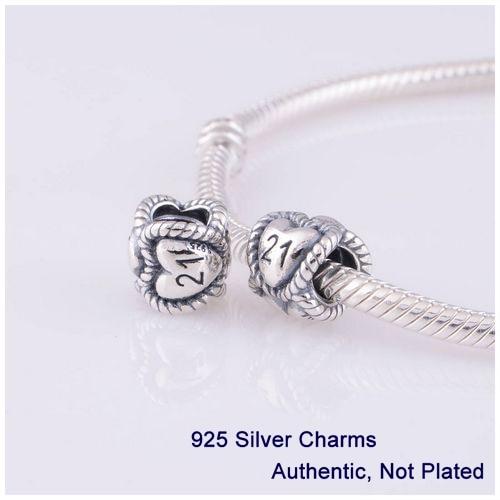 21st birthday charms pandora bracelets