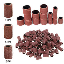 300pcs Nail Grinder Apparatus for Manicure Polish Machine Mill Cutters Accessory 80»/120»/180″ Nail Drill Bits Sanding Bands
