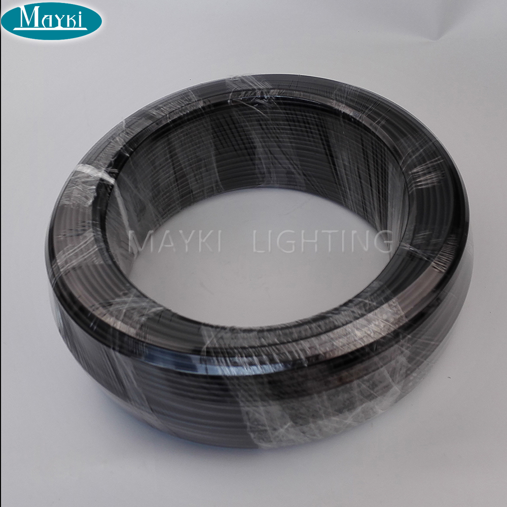 Mayki PEOF-1*0.5 PMMA end lit fiber optic cable with black PVC suitable for swiming pool decoration