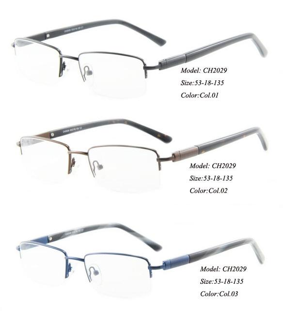 6e6dcdabab9 Eye wonder by Yoptical Men s Half-rim Metal Designer Optical glasses Frames  with Clear Lens CH2029