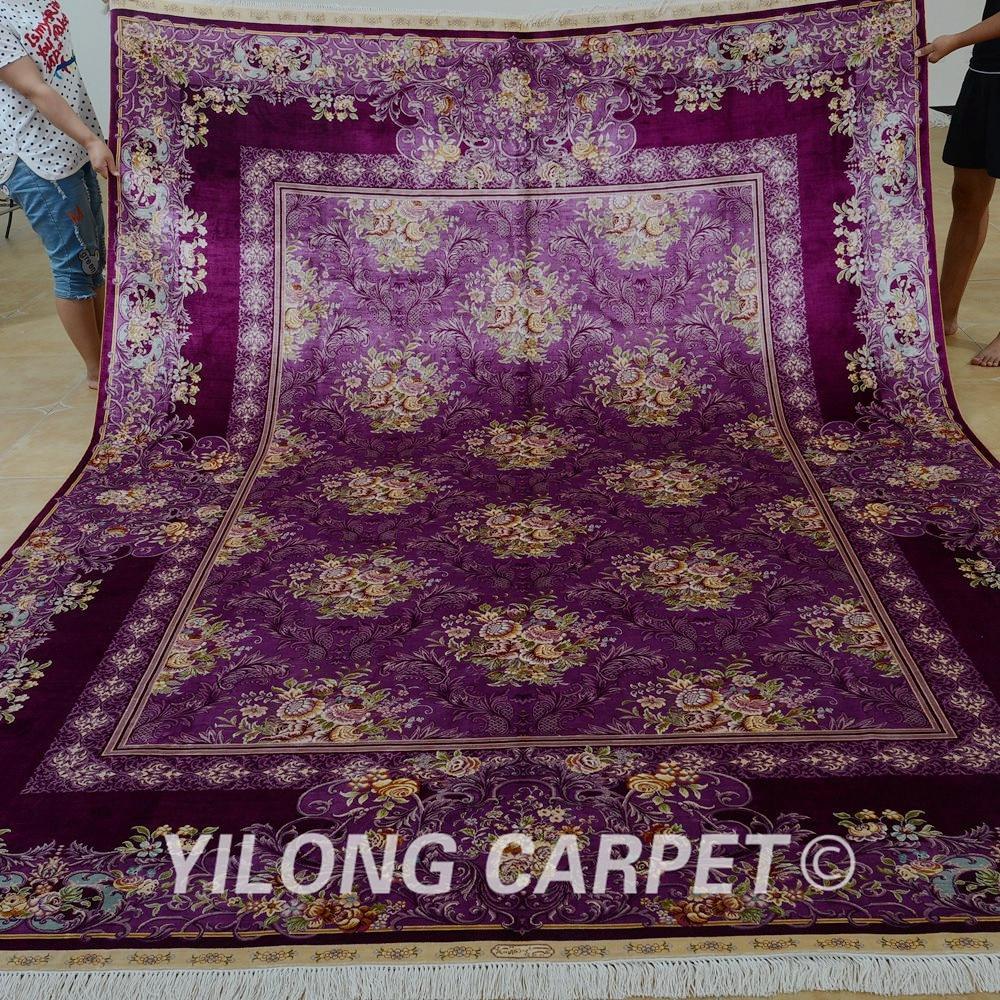 Yilong 8.2'x11.48' Vantage classic rug large antique purple floral living room decorative carpet (0326)(China (Mainland))