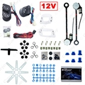 DC12V Universal 2-Doors Electric Power Window Kits with 3pcs/Set Switches & Wire Harness  #CA3884