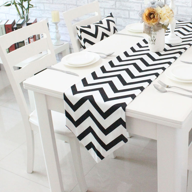 Aliexpress.com : Buy Nordic Geometric Striped Dining Table Runner Placemats  Upscale Fabric Coffee Table Flag Bed Runner From Reliable Table Runners ...