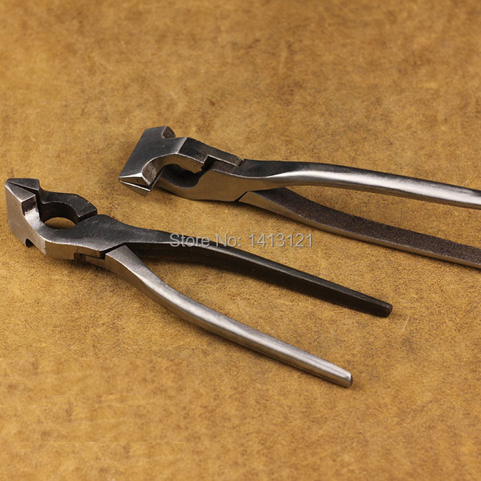 free shipping flat nose pliers DIY handmade leather hand tool fixed calipers fixed clamp Flattening tool Leather production  huafeng giant arrow saving flat round nose pliers pliers 10 inch fixed grip pliers welding tools