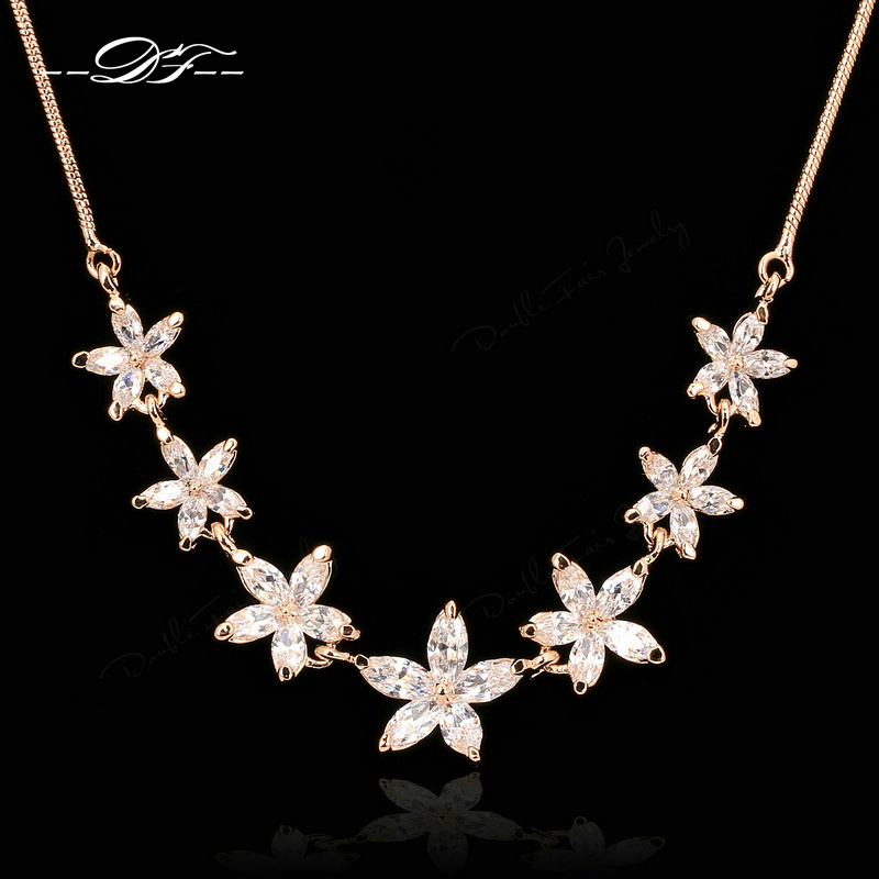 Vintage Crystal Choker Necklaces & Pendants Fashion Brand Crystal Wedding Jewelry For Women Accessiories DFN025