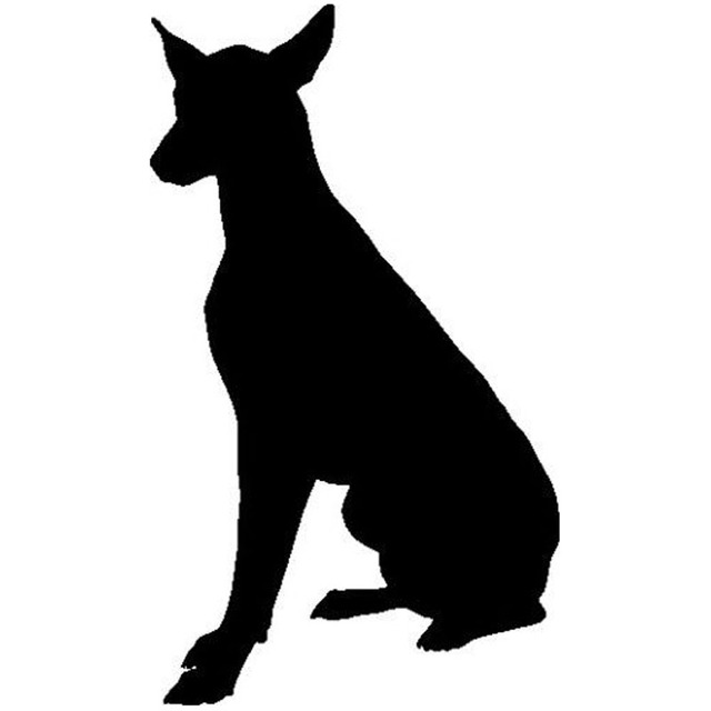 9 715cm doberman dog cute funny animal decals classic fashion window decorative stickers black