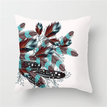 Fuwatacchi Dream Catcher Cushion Cover Feather Printed Pillow Cover Decor Home Living Room Sofa Chair Decorative Pillows Case(China)