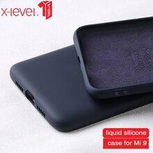 X-Level Liquid Silicone Case For Xiaomi Mi 9 Original Soft Baby Skin Feeling Micro Fiber Back Cover mi case mi9