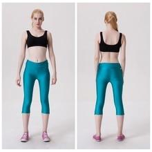 Sport Capri Pants Women Fitness Leggings Workout Cropped Elastic Trousers Gym With Zipper font b Roupa
