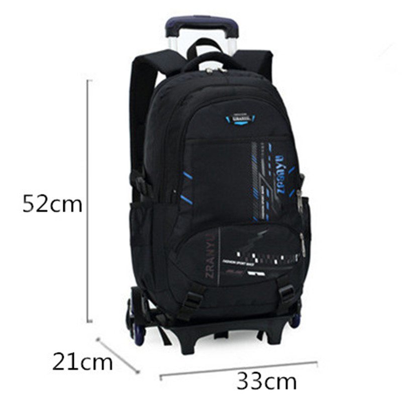 Us 41 0 50 Off Latest Removable Children School Bags With Wheels Stairs Kids Boy Trolley Schoolbag Luggage Book Wheeled Backpack In