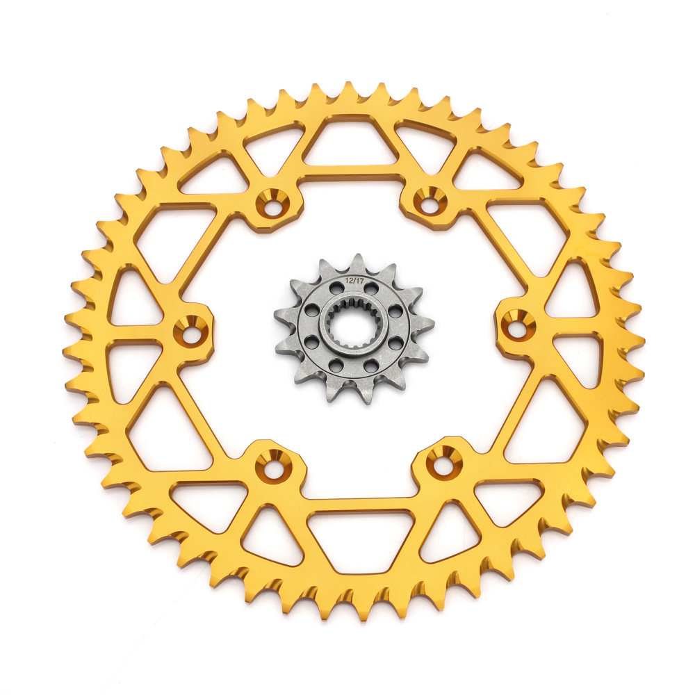 BIKINGBOY Front 13T Rear <font><b>48T</b></font> 49T 50T 51T 52T <font><b>Sprocket</b></font> For Suzuki RM 450 05 06 07 08 09 10 11 12 13 14 15 16 17 Gold Black Silver image
