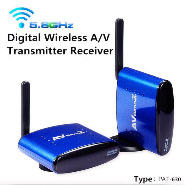 PAT-630 5.8 Ghz Wireless AV Remitente TV Audio Video Transmisor y Receptor de IPTV STB DVD DVR hasta 200 M
