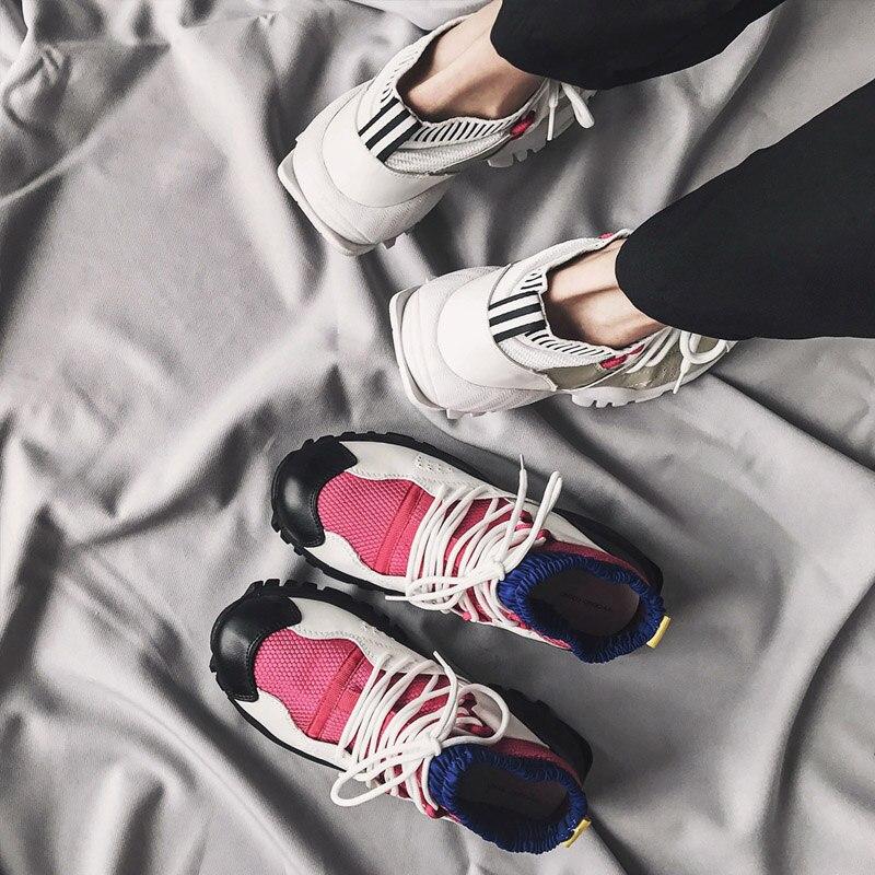 Femmes Blanc Les Femme Mode 2018 blanc Dame Toutes Chaussure rouge Noir Plate Chaussures forme Marque Automne De Sélections Jookrrix Respirant Nouveau AwEOxZAI