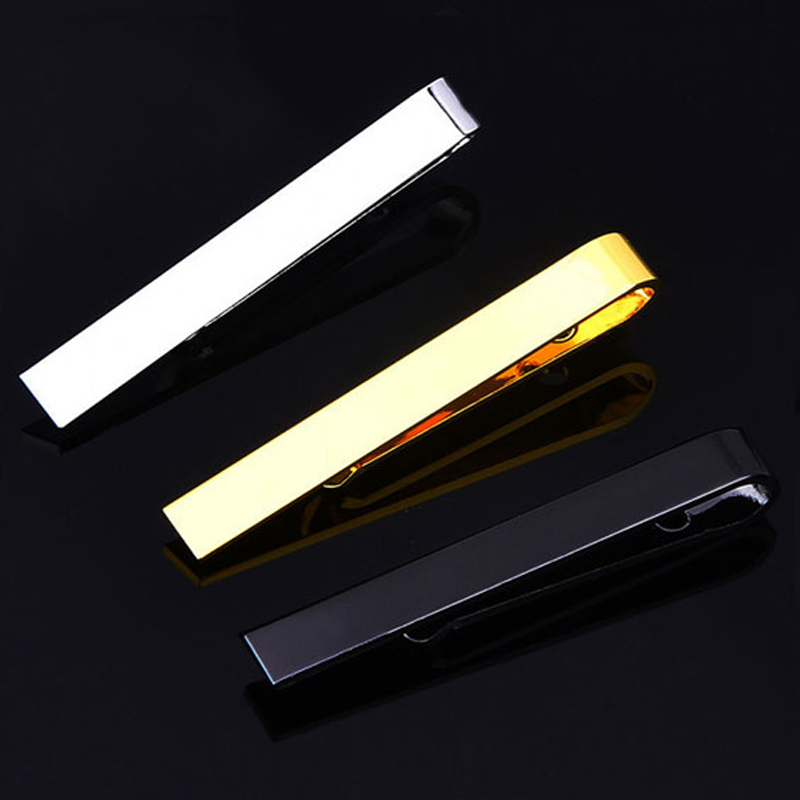 Classic Men Tie Pin Clips Of Casual Style Tie Clip Fashion Jewelry Exquisite Wedding Tie Bar Silver And Golden Color(China)