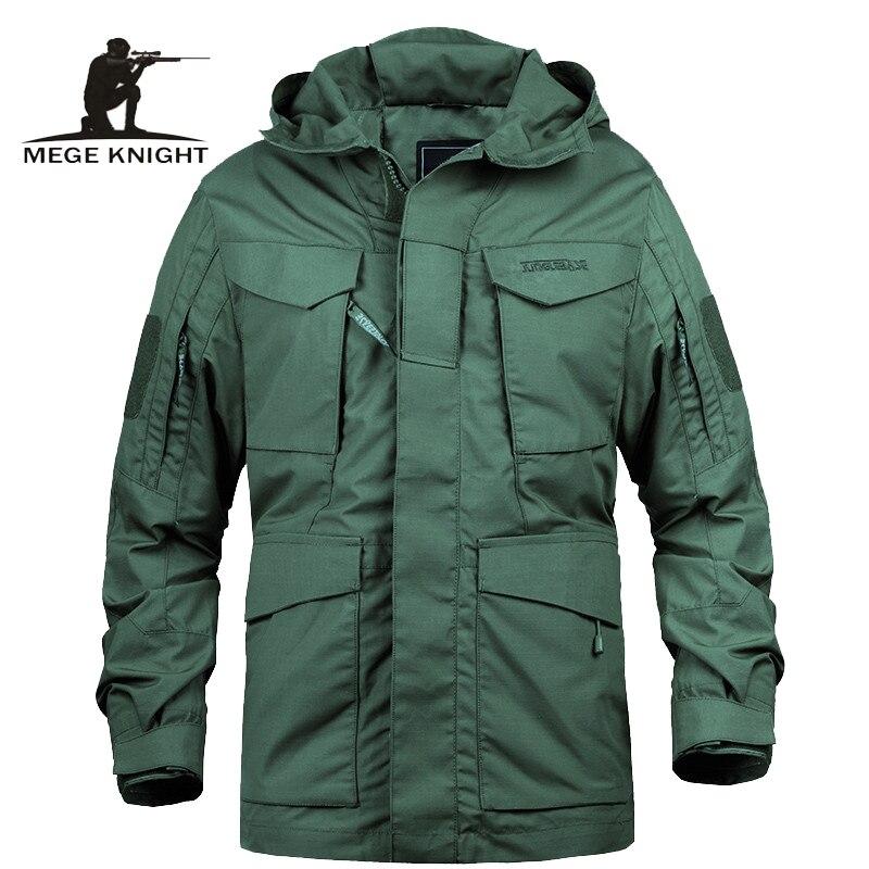 Marca Mege M65 Militare Camouflage abbigliamento Maschile US Army Tactical uomo Giacca A Vento Con Cappuccio Field Jacket Outwear casaco masculino