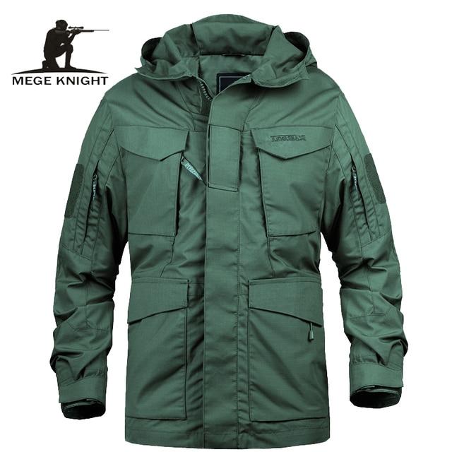 "Mege מותג M65 צבאי הסוואה זכר בגדי צבא ארה""ב טקטי גברים של מעיל רוח הסווטשרט שדה מעיל להאריך ימים יותר casaco masculino"