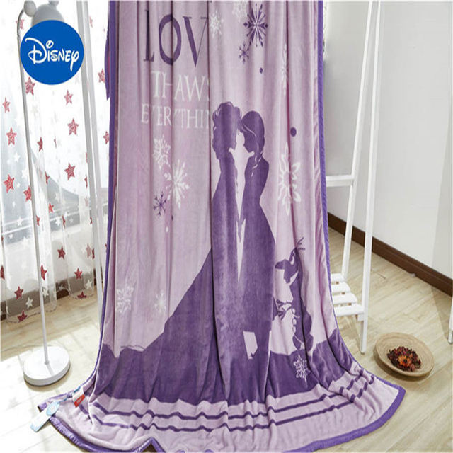 disney cartoon princess Elsa Anna bed sheet soft washable blanket 200*230 cm size cover girl teen children bedclothes 3d printed