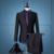 ( Jaqueta + calça ) homens fino terno do casamento vestido de inverno de maré coreano xadrez britânico homem de partido bar