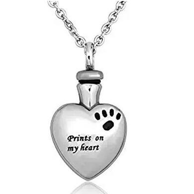 Prints on My Heart Urn Necklace