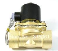 Free Shipping Electric Solenoid Valve Water Air N C 220V AC 3 4 2W200 20 Option