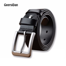 2018 Long high quality large size men's genuine leather belt brand cowskin pin buckle belt for men 140cm 150cm 160cm male starp 2018 new large size genuine leather men belts fashion long male designers high quality 140cm 150cm 160cm jeans pin buckle belt