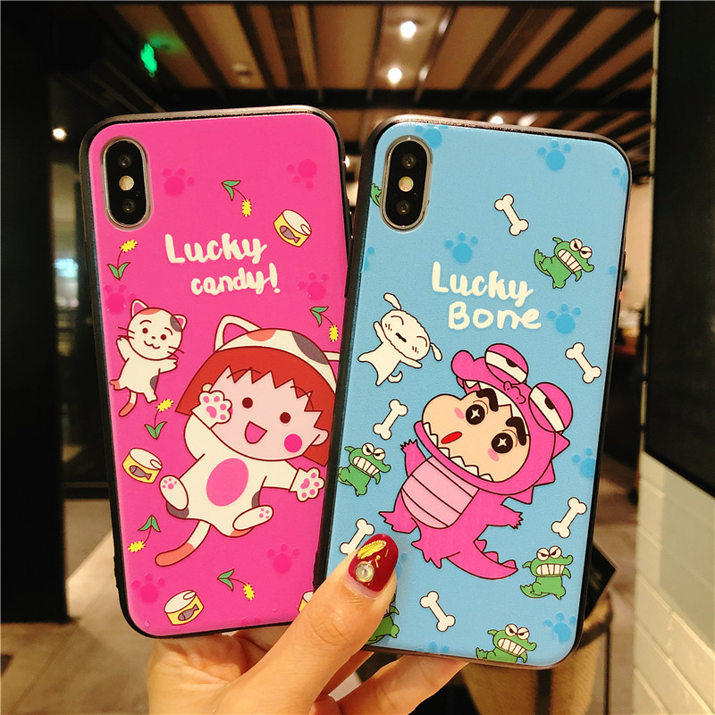 New Cute Case for iPhone 8 plus/7 plus Cover Cases Cartoon Patterned Soft Silicone Cover For iPhone 7 8 X 6 6s plus Phone Coque(China)