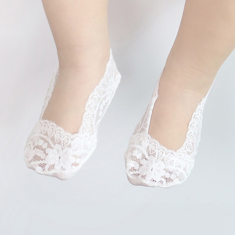 Baby Girls Hollow Out Lace Princess Shallow Mouth Invisible Inner Anti-Skid Cute Boat Socks Baby Socks цена 2017