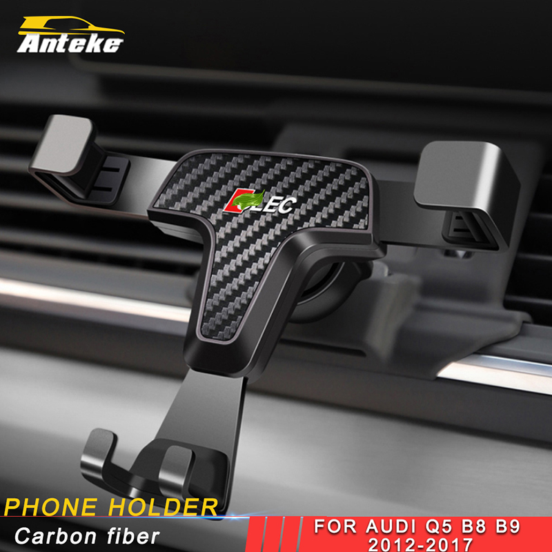 ANTEKE For Audi Q5 B8 B9 2012 2017 Car Phone Holder Air Vent Mount Stand Mobile Gravity Smartphone Cellphone Support