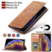 For iPhone X XR XS MAX PU Leather Flip Wallet Photo Holder Back Cover 7 7Plus 8 8Plus 6 6SPlus 5S SE with Case
