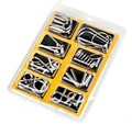8PCS/Set Metal Wire Puzzle IQ Mind Brain Teaser Puzzles Game for Adults Children Kids