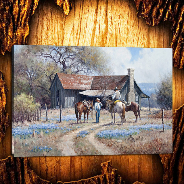 Martin Grelle Native American Indian Life Canvas Painting Living Room Bedroom Home Decor Modern Mural Art Oil 012