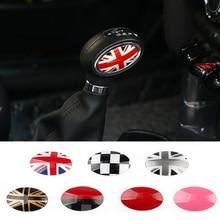 купить 2pcs Union Jack Car Gear Shift Knob Trim Covers ABS Stickers Decals For BMW Mini Cooper F54 F55 F56 F60 Countryman Car styling онлайн