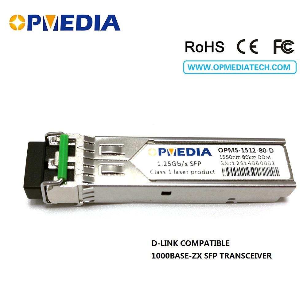 D- 링크, SFP-GE-ZX, 1000BASE-ZX SFP 송수신기, 1.25G 1550nm 80km - 통신 장비 - 사진 1