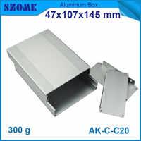 10pcs/lot szomk electronic aluminum housing cabinet wall mounted extruded control box 47*107*145mm